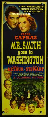 d003 MR SMITH GOES TO WASHINGTON linen insert movie poster '39 Capra