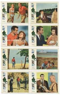 e014 DR. NO 8 movie lobby cards '62 Sean Connery IS James Bond!