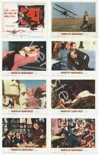 e015 NORTH BY NORTHWEST 8 movie lobby cards '59 Cary Grant, Hitchcock