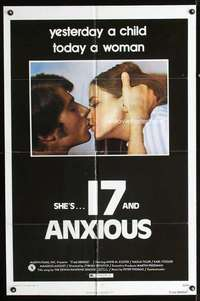 k002 17 & ANXIOUS one-sheet movie poster '73 Zybnek Brynych, German sex!