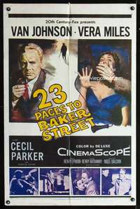 k003 23 PACES TO BAKER STREET one-sheet movie poster '56 Van Johnson, Miles