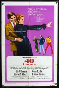 k008 40 CARATS style B one-sheet movie poster '73 Liv Ullmann, Edward Albert