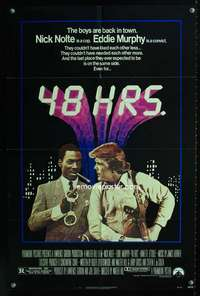 k011 48 HOURS one-sheet movie poster '82 Nick Nolte, Eddie Murphy