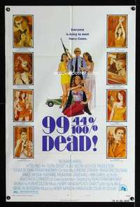 k016 99 & 44/100% DEAD rare style B one-sheet movie poster '74 different!