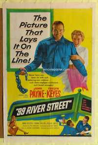 k017 99 RIVER STREET one-sheet movie poster '53 John Payne, Evelyn Keyes