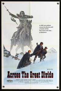k020 ACROSS THE GREAT DIVIDE one-sheet movie poster '77 McQuarrie art!