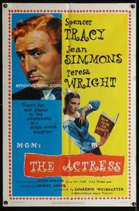 k022 ACTRESS one-sheet movie poster '53 Spencer Tracy, Jean Simmons
