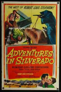 k024 ADVENTURES IN SILVERADO one-sheet movie poster '48 Robert L. Stevenson