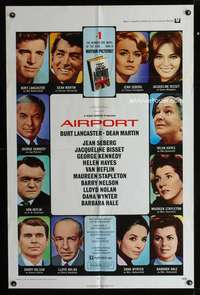 k025 AIRPORT one-sheet movie poster '70 Burt Lancaster, Dean Martin