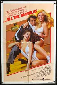 k027 ALL THE MARBLES one-sheet movie poster '81 sexy female wrestling!