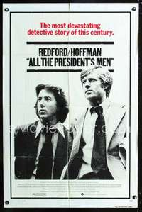 k028 ALL THE PRESIDENT'S MEN one-sheet movie poster '76 Hoffman, Redford