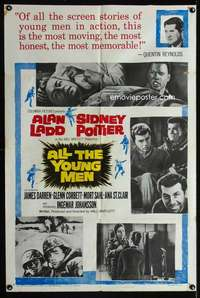 k029 ALL THE YOUNG MEN one-sheet movie poster '60 Alan Ladd, Poitier