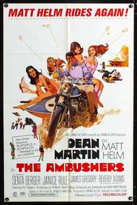 k033 AMBUSHERS one-sheet movie poster '67 Dean Martin as Matt Helm!