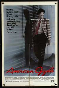 k034 AMERICAN GIGOLO one-sheet movie poster '80 Richard Gere
