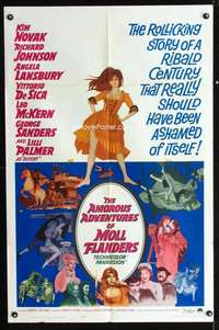 k035 AMOROUS ADVENTURES OF MOLL FLANDERS one-sheet movie poster '65 Novak