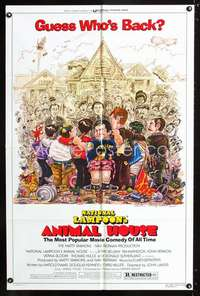 k037 ANIMAL HOUSE one-sheet movie poster R79 John Belushi, Landis classic!