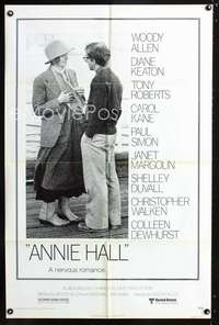 k038 ANNIE HALL one-sheet movie poster '77 Woody Allen, Diane Keaton