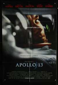 k041 APOLLO 13 advance one-sheet movie poster '95 Tom Hanks, Paxton, Howard