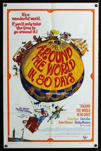 k045 AROUND THE WORLD IN 80 DAYS one-sheet movie poster R68 all-stars!