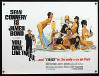 z187 YOU ONLY LIVE TWICE British quad movie poster '67Connery IS Bond