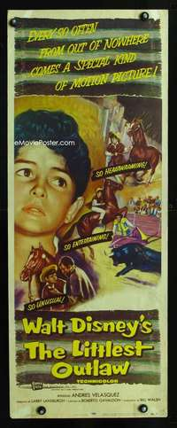 F412 littlest outlaw insert movie poster 55 walt disney armendariz