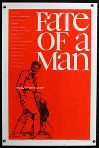 n031 FATE OF A MAN one-sheet movie poster '61 Bob Peak's first poster art!