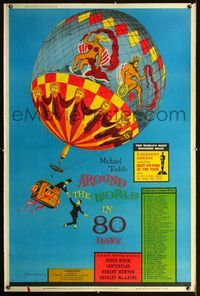 n073 AROUND THE WORLD IN 80 DAYS Forty by Sixty movie poster '58 all-stars!