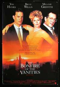 n074 BONFIRE OF THE VANITIES Forty by Sixty movie poster '90 Hanks, Willis