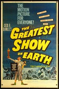 n076 GREATEST SHOW ON EARTH Forty by Sixty movie poster R60 James Stewart