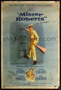 n079 MISTER ROBERTS Forty by Sixty movie poster '55 Henry Fonda, James Cagney