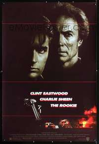 n081 ROOKIE Forty by Sixty movie poster '90 Clint Eastwood, Charlie Sheen