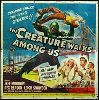 n001 CREATURE WALKS AMONG US six-sheet movie poster '56 great sequel!