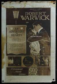 n046 ADVENTURE IN HEARTS rotogravure one-sheet movie poster '19 Warwick