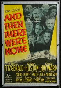 n061 AND THEN THERE WERE NONE one-sheet movie poster '45 Agatha Christie