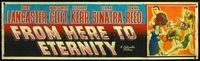 n072 FROM HERE TO ETERNITY banner movie poster '53 Burt Lancaster
