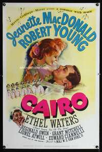 n027 CAIRO style D one-sheet movie poster '42 Jeanette MacDonald, Young