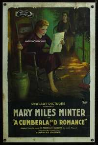 n048 CUMBERLAND ROMANCE one-sheet movie poster '20Mary Miles Minter stone litho