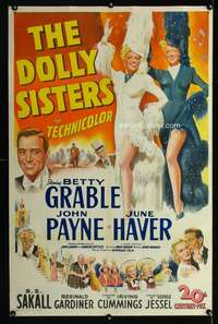 n030 DOLLY SISTERS one-sheet movie poster '45 Betty Grable, June Haver