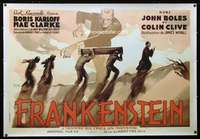 n025 FRANKENSTEIN French special reproduction movie poster '80s