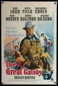 n032 GREAT GATSBY one-sheet movie poster '49 best artwork of Alan Ladd!