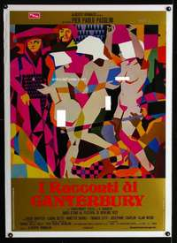 n018 CANTERBURY TALES large Italian photobusta movie poster '71 cool!