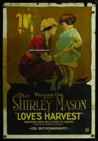 n052 LOVE'S HARVEST one-sheet movie poster '20 great mom & daughter image!