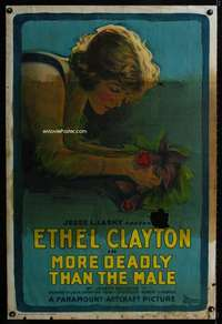 n053 MORE DEADLY THAN THE MALE one-sheet movie poster '19 stone litho!