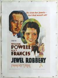 n071 JEWEL ROBBERY reproduction one-sheet movie poster '90s William Powell