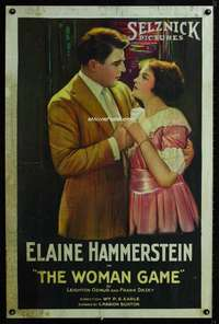 n059 WOMAN GAME one-sheet movie poster '20 Elaine Hammerstein stone litho!