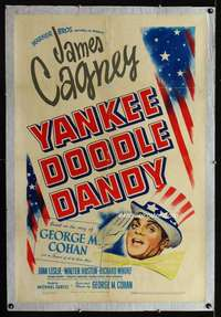 n070 YANKEE DOODLE DANDY one-sheet movie poster '42 James Cagney classic!