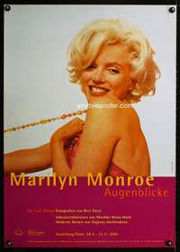 w062 MARILYN MONROE EXHIBITION German museum movie poster '00 sexy!