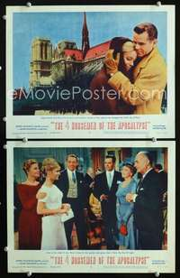 z030 4 HORSEMEN OF THE APOCALYPSE 2 movie lobby cards '61Ford,Thulin