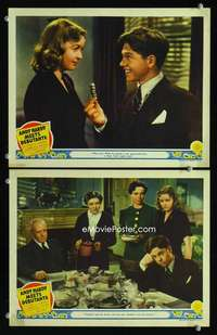 z060 ANDY HARDY MEETS DEBUTANTE 2 movie lobby cards '40 Mickey Rooney