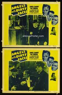 z062 ANGELS WITH DIRTY FACES 2 movie lobby cards R56 Cagney, O'Brien
